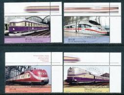 GERMANY Mi.Nr. 2560-2563 Wohlfahrt: Eisenbahnen In Deutschland - Eckrand Oben Rechts - Used - BRD