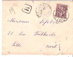 Yvert N°136 ( 35c.semeuse Maigre) Seul Sur Lettre Recommandée Oblitérée ORLEANS - Postmark Collection (Covers)