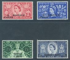 BAHREIN - MLH/*. - 1953- ELIZABETH II CORONATION ANNIVERSARY - Yv 84-87 -  Lot 18426 - Bahreïn (...-1965)