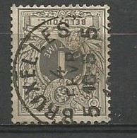 E10 OCB Nr 43 Centrale Afstempeling BRUXELLES 5 - 1869-1888 Lying Lion