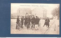 Tienen Bost Hannuitsesteenweg Ter Hoogte Cafe Trefpunt - Rond Punt N64 Belgische Soldaten Doen Controle Aug 1914 - Tienen