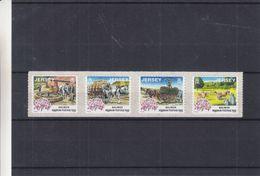 Jersey - Yvert 955 A / D ** - Timbres Adhésifs De 2000 - Chevaux - Vaches - Fleurs - Valeur 16 Euros - Jersey