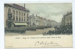 Antwerpen Anvers Revue Des Troupes De La Garnison Défilé Place De Meir - Antwerpen