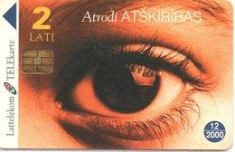 Yeux Oeil  Télécarte Lituanie Phonecard  (G 556) - Lituanie