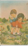 Kunstler, Illustretaur - Childrens And A Duck, Unused (ask For Verso/demander Le Verso) - Bandes Dessinées