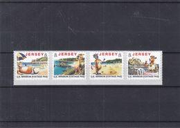 Jersey - Yvert 959 A / D ** - Timbres Adhésifs De 2000 - Vacances - Plage - Châteaux - Vin - Crustacés - Valeur 18 € - Jersey