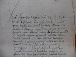 MANUSCRIT ORDRE DES CARMES D ENGHIEN 1539 - Historical Documents