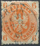 Preußen 6 Pf Michel 15 Gestempelt K1 BERLIN P.E. 15 Blau (P-38) - Prussia