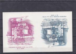 Rwanda - Espace - COB LX 308A + BF 19 ** - Tête Bêche Se Tenant - Premier Homme Sur La Lune - Drapeaux - Rare - Rwanda