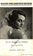 G-CA KATARINA URBAN - MISS JUGOSLAVIJA - Servië
