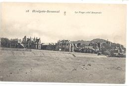 HOULGATE-BEUZEVAL  .  LA PLAGE ( Cote BEUZEVAL )  CARTE NON ECRITE - Houlgate