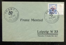 Boehmen Und Maehren / 1942 / Mi. 84 EF Auf Brief SSt. 86d (1/166) - Briefe U. Dokumente