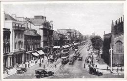 Edinburgh: 2x DOUBLE DECK STREETCAR / TRAM, OLDTIMER CARS 1930's - Princes Street From The West End - Scotland - Toerisme