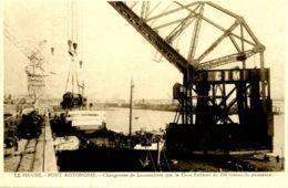 N°67161 -cpa Le Havre Chargement De Locomotivues- - Commerce