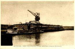 N°67162 -cpa Le Havre -port Autonome- Hangar Spécial Pour Réception Des Bananes- - Commerce