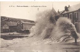 A.D.23 . PORT-EN-BESSIN - LA TEMPETE DU 21 FEVRIER . CARTE NON ECRITE - Port-en-Bessin-Huppain
