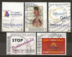 Pays-Bas Netherlands 5 Interesting Personal Stamps Obl - 2013-... (Willem-Alexander)