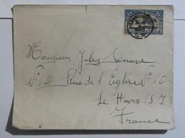 Congo Belge - COB N° 67 Sur Lettre De Stanleyville Vers Le Havre 1918 - Congo Belge