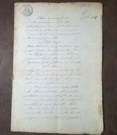 1897 MANOSCRITTO SU CARTA BOLLATA TIMBRO 80 CENT ATTO DI GIUDICE 8 PAGINE - Manoscritti