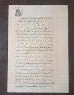 1901 MANOSCRITTO SU CARTA BOLLATA TIMBRO 10 CENT RICHIESTA LICENZA CARTA REGNO D' ITALIA - Manoscritti