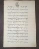 1908 MANOSCRITTO SU CARTA BOLLATA TIMBRO 2 LIRE CARTA REGNO D' ITALIA MARCA DA BOLLO 1885 - Manoscritti
