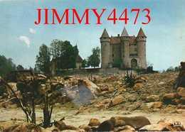 CPM - Le Château De VAL ( Arr. De Ussel ) 19 Corrèze - Dominant Le Réservoir Du Barrage De BORT LES ORGUES - Ed. Théojac - Ussel