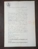 1902 MANOSCRITTO SU CARTA BOLLATA TIMBRO 50 CENT CARTA REGNO D' ITALIA L' AQUILA - Manoscritti