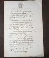 1880 MANOSCRITTO SU CARTA BOLLATA TIMBRO 1 LIRA CARTA REGNO D' ITALIA TIMBRO CONSERVAZIONE DELLE IPOTECHE - Manoscritti
