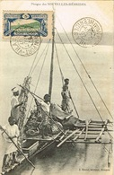 Nouvelles Hebrides Vanuatu New Hebrides Postcard Poste Locale Pirogue Oblitere Port Vila 22 Aout 1907 BE - Vanuatu