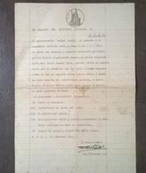 1946 DOMANDA DISTRETTO MILITARE CARTA BOLLATA TIMBRO 8 LIRA TIMBRO MARESCIALLO MAGGIORE A CAVALLO - Manuscripten