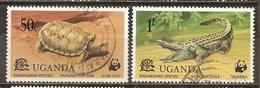 Uganda 1977 Reptiles Obl - Uganda (1962-...)