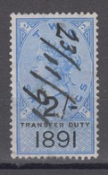 GREAT BRITAIN - Transfer Duty 1891 Revenue Stamp 2 Shillings - Steuermarken