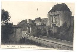 CAEN .  LE CHATEAU . POSTE DE SECOURS  . CARTE NON ECRITE - Caen