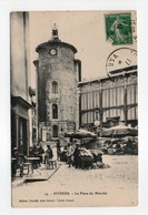 - CPA HYÈRES (83) - La Place Du Marché 1913 (avec Personnages) - Edition Nouvelle Chez Gabriel N° 19 - - Hyeres