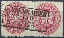 Preußen Michel 16 Im Paar Gest. BRESLAU FREIBURGER EISENB. HOF (P-62) - Preussen