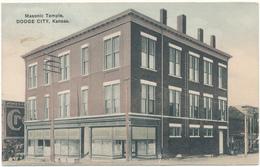 KANSAS - DODGE CITY - Masonic Temple - Little Corner Fold - Etats-Unis