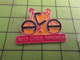 713i Pin's Pins /  Belle Qualité Et Rare / THEME SPORTS : CYCLISME ACA AUTO CYCLE ANNONEEN VELO ROUE - Cycling