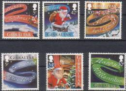 Gibraltar 1999 Yvertn° 896-901 *** MNH Cote 8.50 Euro Noel Kerstmis - Gibraltar
