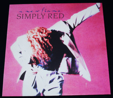 """SIMPLY RED – """"A New Flame"""" – LP – 1989 – 244689-1 – ELEKTRA/WEA – Made In Germany - Soul - R&B"""