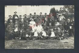 MILITARIA CARTE PHOTO MILITAIRE GROUPE DE SOLDATS & INFIRMIERES HOPITAL PHOTO PITTIER À ANNECY : - Personnages