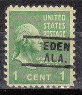 USA Precancel Vorausentwertung Preo, Locals Alabama, Eden 729 - Etats-Unis