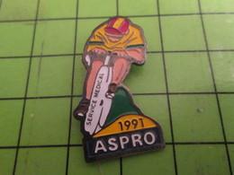 713i Pin's Pins /  Belle Qualité Et Rare / THEME SPORTS : CYCLISME TOUR DE FRANCE 1991 SERVICE MEDICAL ASPRO Mais Pas Qu - Cycling