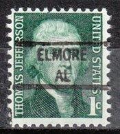 USA Precancel Vorausentwertung Preo, Locals Alabama, Elmore 841 - Etats-Unis