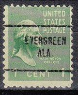 USA Precancel Vorausentwertung Preo, Locals Alabama, Evergreen 704 - Etats-Unis