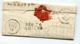 SOMME De AMIENS Linéaire De Déboursé Pour MONDIDIER Sur LAC De PARIS Du 22/11/1828 - 1801-1848: Vorläufer XIX