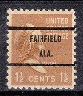USA Precancel Vorausentwertung Preo, Bureau Alabama, Fairfield 805-71 - Etats-Unis