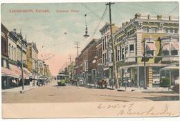KANSAS - LEAVENWORTH - Delaware Street - Etats-Unis