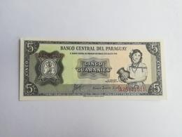 PARAGUAY 5 GUARANIES 1952 - Paraguay