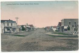 KANSAS - SYLVAN GROVE - Looking North From Depot - Etats-Unis