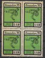 1975 EQUATEUR 927** Football  , Bloc De 4 - Ecuador
